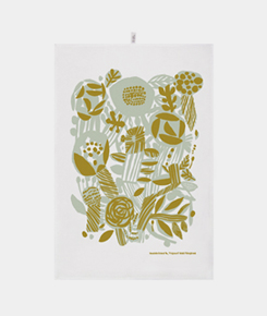 Potpourri Green Kitchen Towel